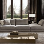 italian luxury felicit sofa with chaise longue luce collection
