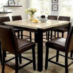 janeta marble top counter height dining table