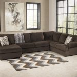 jessa place chocolate sectional sofa with left chaise