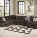 jessa place chocolate sectional sofa with right chaise
