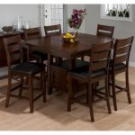 jofran taylor cherry 7 piece counter height dining table set walmart