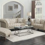 josephine 2 piece tufted living room set beige