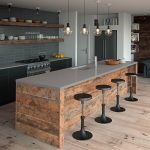 just gorgeous this kitchen features an island bench top