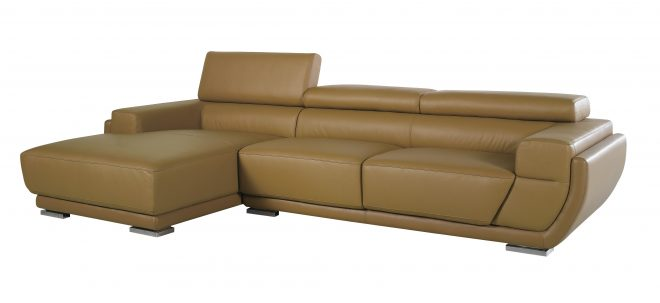 k8300 modern camel italian leather sectional sofa