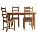 kauststorns table and 4 chairs antique stain 147 cm ikea