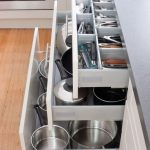 keep your kitchen in order with our pot drawers and cutlery drawers