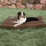 kh pet products just relaxin indoor outdoor dog bed chocolate large