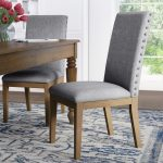 kieran linen nailhead upholstered dining chair