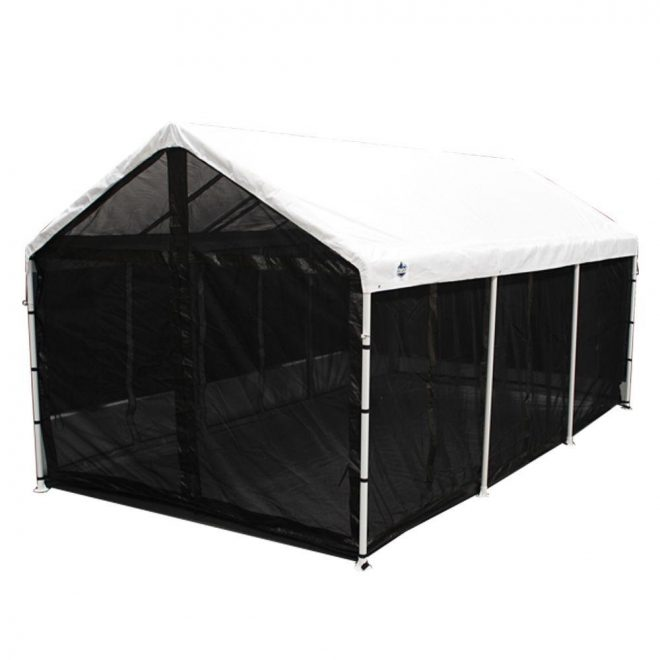 king canopy bug screen room with floor