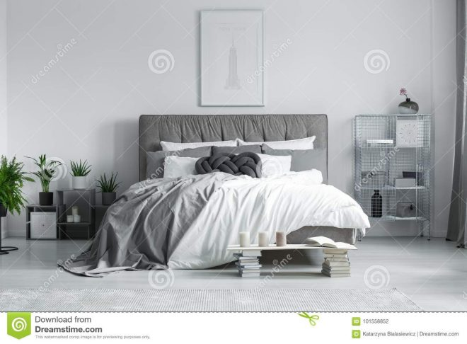 king size bed in bedroom stock photo image of candles