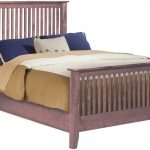 king size elkins mission style cherry platform bed frame