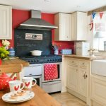 kitchen astonishing red kitchen wall with white kitchen cabinet a