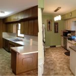 kitchen before after 70s ranch style house kitchen update