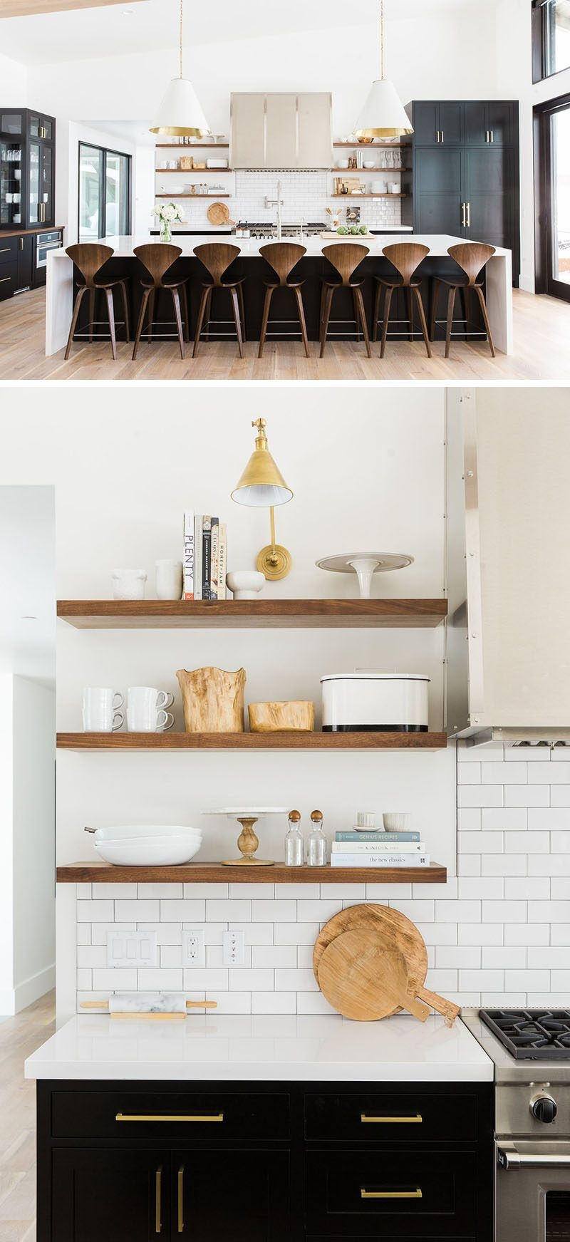 kitchen design idea 19 examples of open shelving kitchen