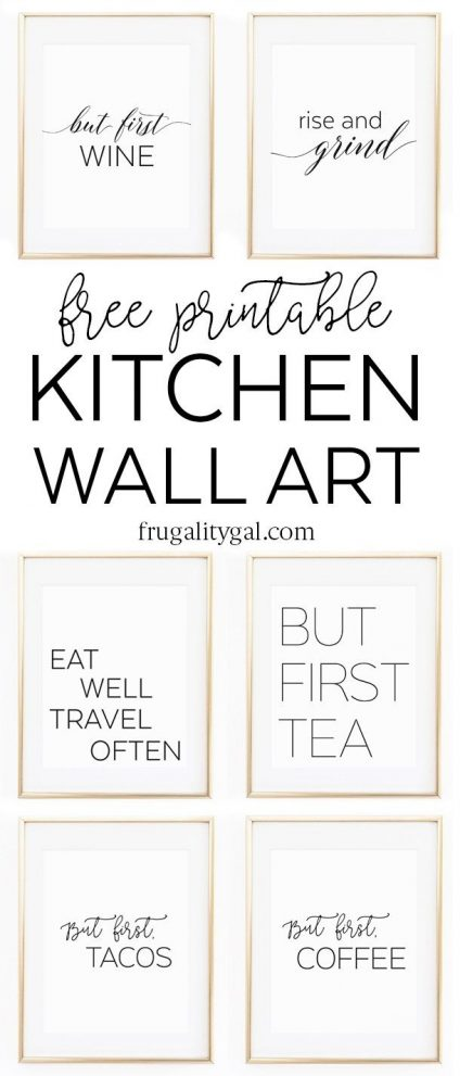 kitchen gallery wall printables free printable wall art