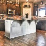 kitchen island makeover white beadboard white paint
