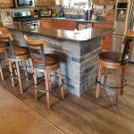 kitchen island makeover with cobblestone creative faux panels