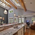 kitchen lighting ideas vaulted ceiling kitchen design