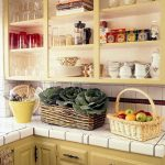 kitchen shelves peachy yellow country kitchen open cabinets