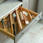 kitchen storage tip store your utensils diagonally instead of flat