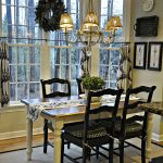 kitchen tour like the black chairs with the white distressed table