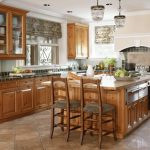 kitchens kitchen flooring ideas with oak cabinets home