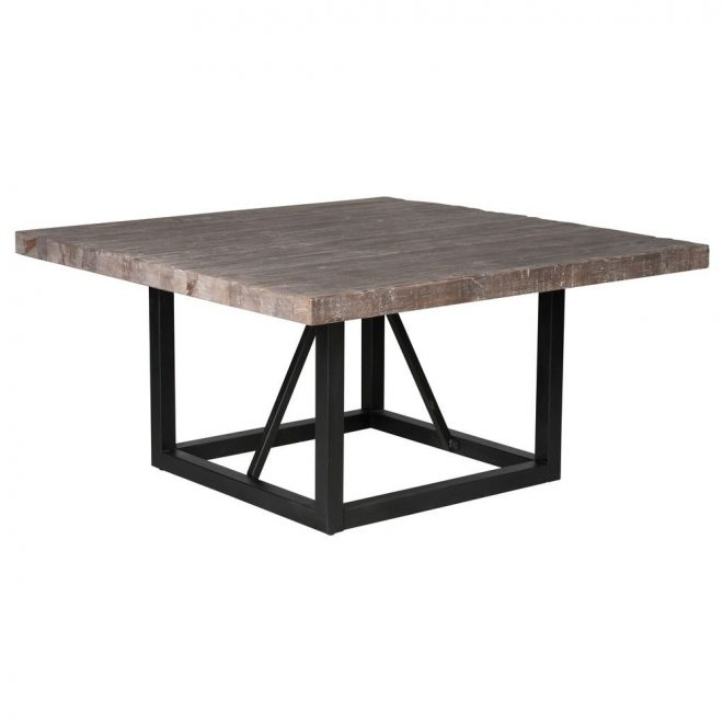 kosas home mia reclaimed wood 60 inch square dining table