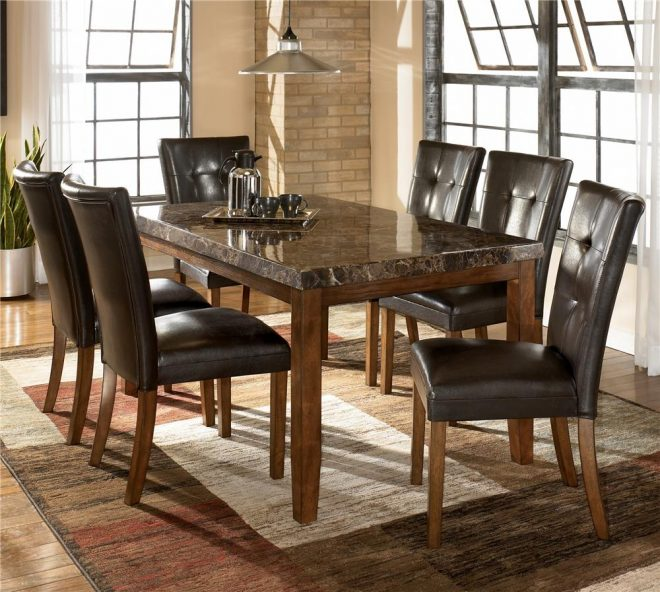 lacey 7 piece dining table chair set