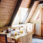 lake tahoe a frame cabin kitchen interior in 2019 cabin a
