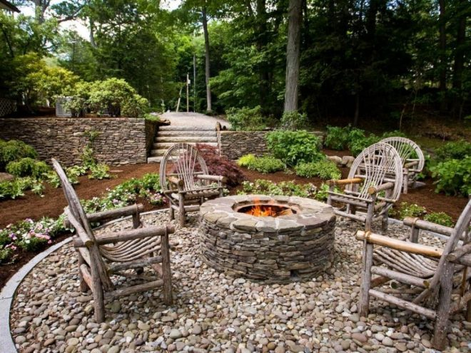 landscaping around a fire pit fire pit backyard fire pit