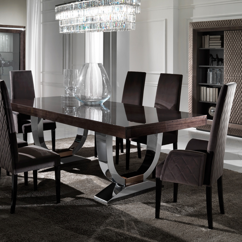 large modern italian veneered extendable dining table juliettes