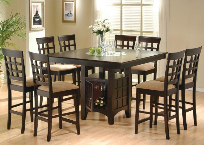 large square counter height table co 100438