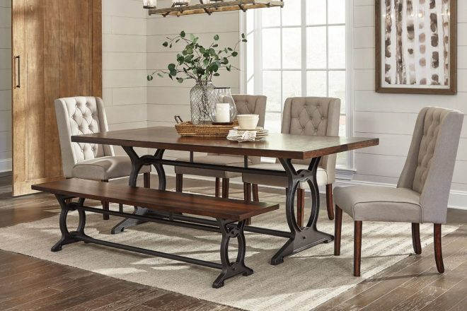 laurel dining table 6 side chairs at gardner white