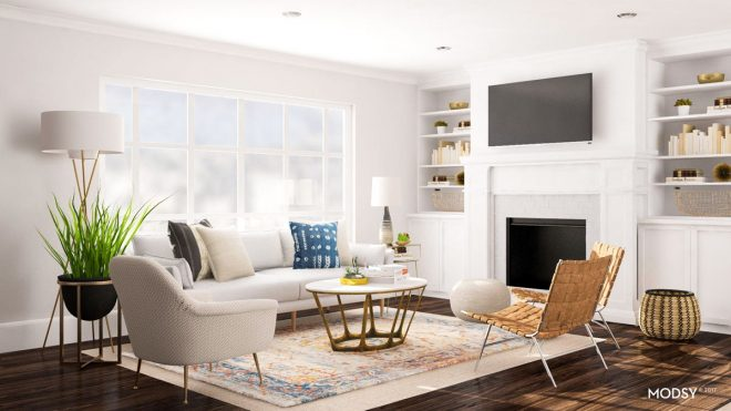 layout ideas deciding on a sofa or sectional for an open