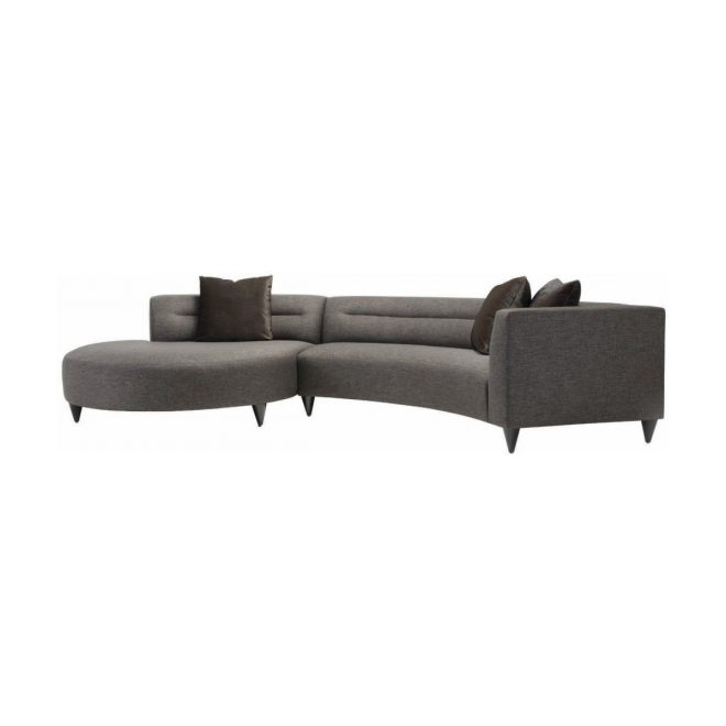 lazar calcutta gray upholstered sectional sofa with accent pillows