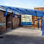 lean to canopy school canopies amv playgrounds large