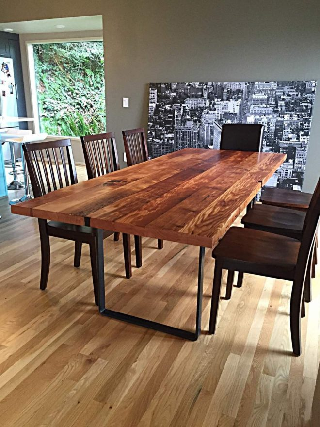 learn more about woodcrafts reclaimed wood dining tables