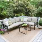 leisure made blakely 5 piece aluminum outdoor sectional with sunbrella cast ash cushions