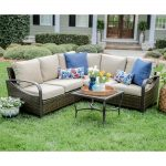 leisure made trenton 4 piece wicker outdoor sectional with
