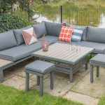 lg outdoor milan modular dining set ebay