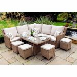 lg outdoor saigon heritage highback modular dining set