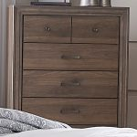 liberty furniture clarksdale 5 drawer chest in walnut liberty