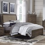 liberty furniture clarksdale upholstered sleigh bed in walnut queen