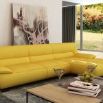 light yellow leather sofa house tings in 2019 yellow