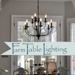 lighting over the farmhouse table the winner kitchen dining room