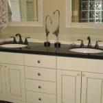 likable white bathroom vanity with black top design ideas youtube