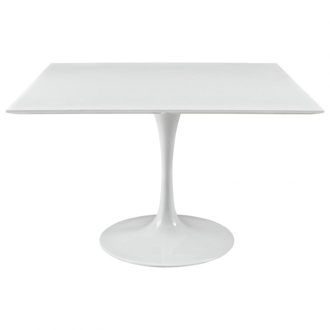lippa white square dining table