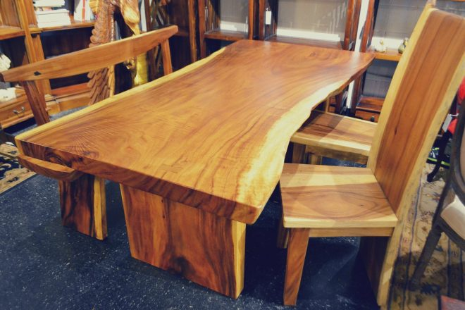 live edge acacia wood slab dining table 67 x 35 made to order live edge dining room furniture
