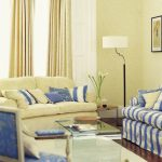living room country blue andellow design decor ideas