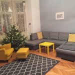 living room grey yellow livingroom rug armchair ikea